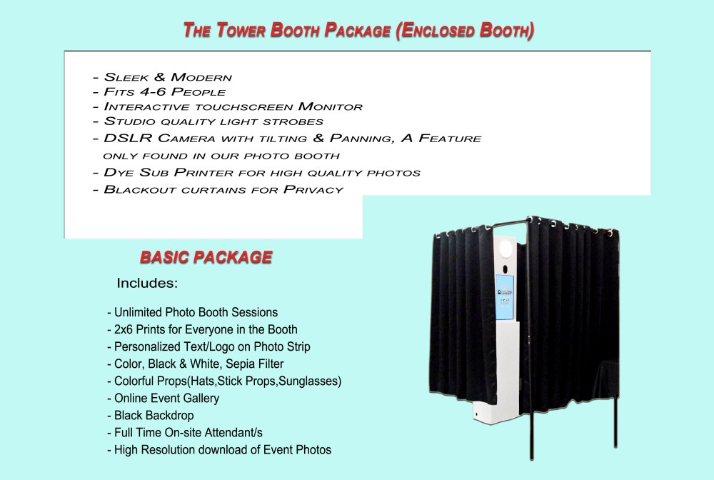 Tower Photo Booth Package