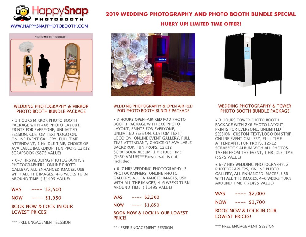 PHOTOGRAPHY+PHOTOBOOTH BUNDLE PACKAGE 2019