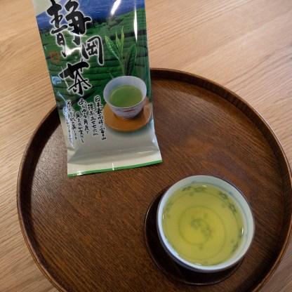 Sencha tea in a cup