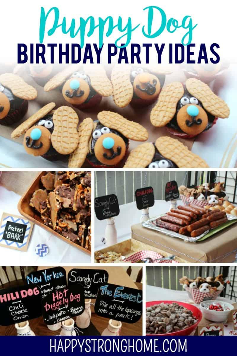 diy puppy dog birthday party happy