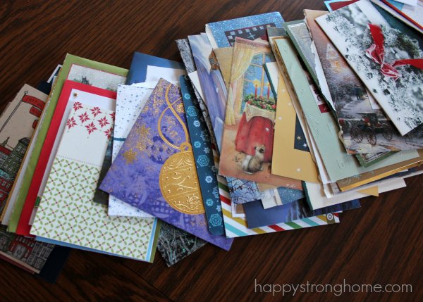 Ideas For Upcycled DIY Christmas Cards Happy Strong Home