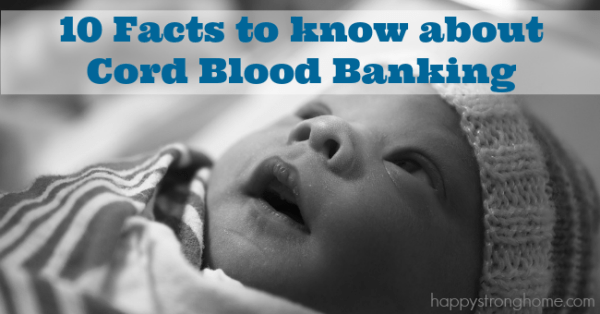 facts about cord blood banking