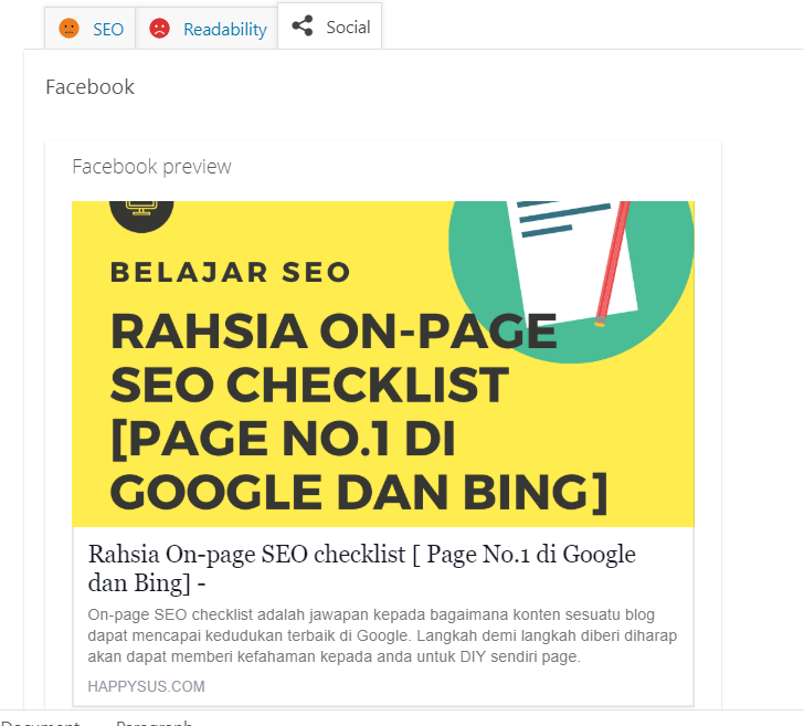 facebook_On-page_SEO checklist