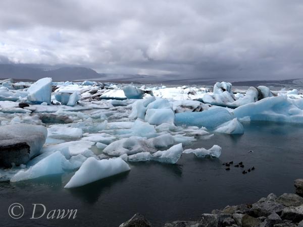 Amazing colours in the ice at Jökulsárlón Glacial Lagoon