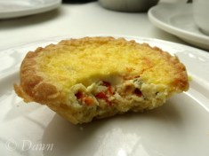 mini-quiche at the Butchart's Afternoon Tea
