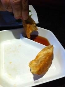 Gyozas (on the menu as 'fried dumplings') from The One Sushi