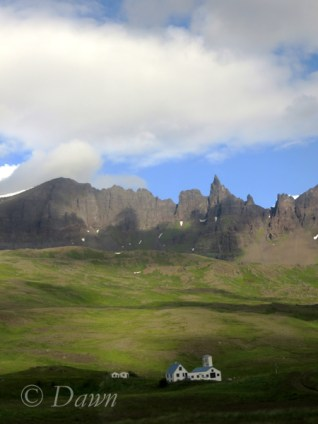 Lava Spire in the mountains / volcanos