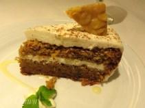 Carrot cake for dessert on the Royal Caribbean cruise.
