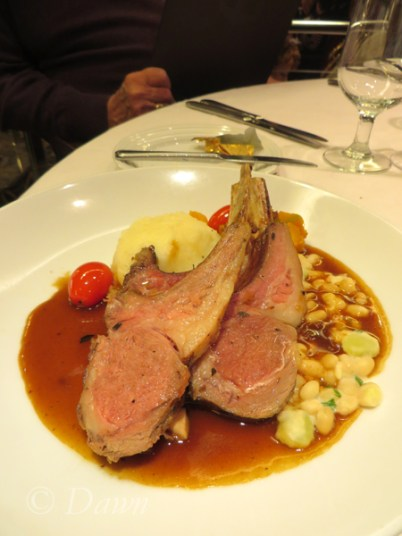 One night my mum had lamb chops for dinner on the St. Lawrence Royal Caribbean cruise.