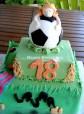 Tarta 18 futbol, Tarta fondant, tarta cumpleaños, tarta divertida, tarta 18, tarta futbol, tarta niña, tarta barça