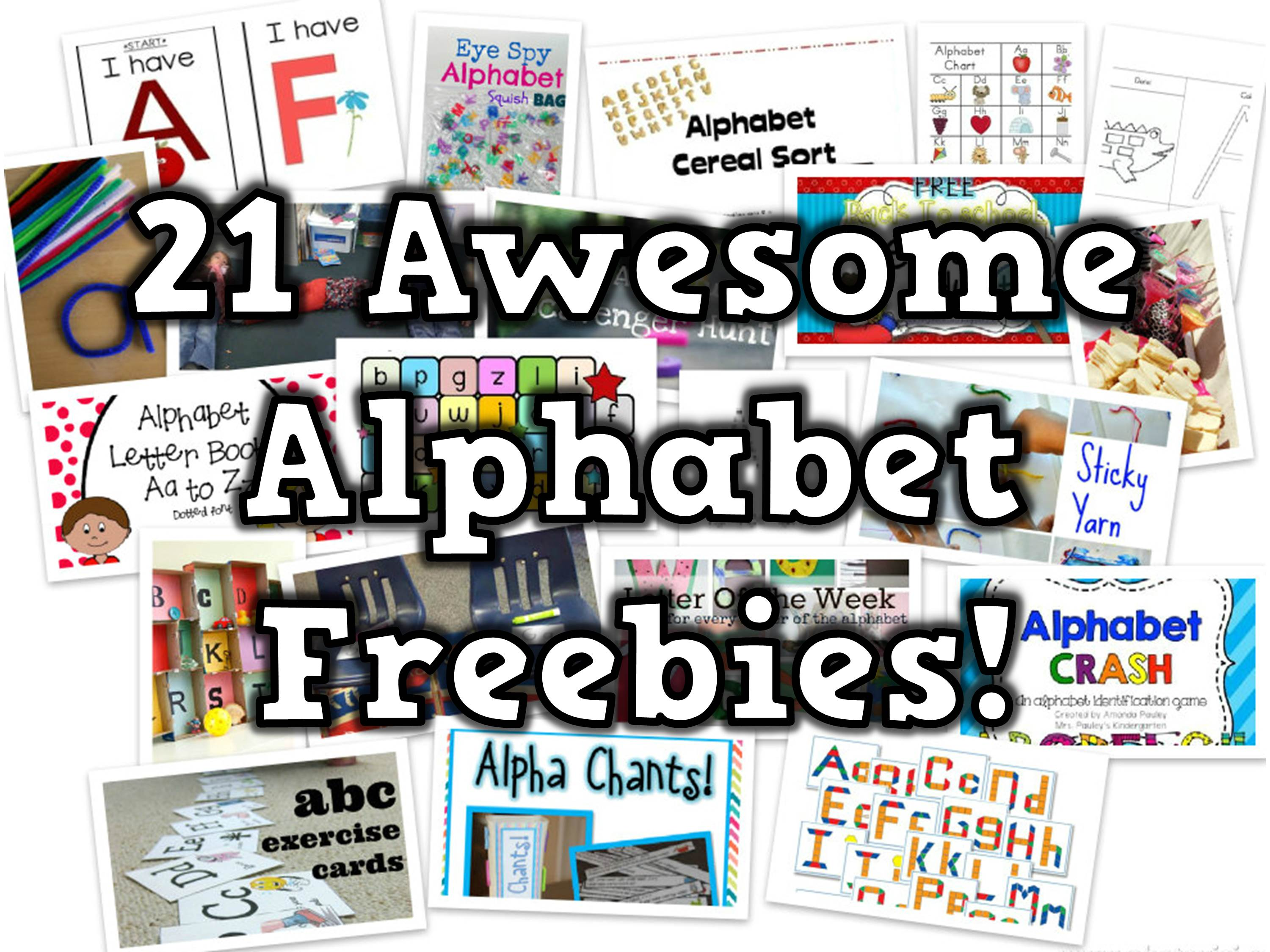 21 Free Alphabet Teaching Resources
