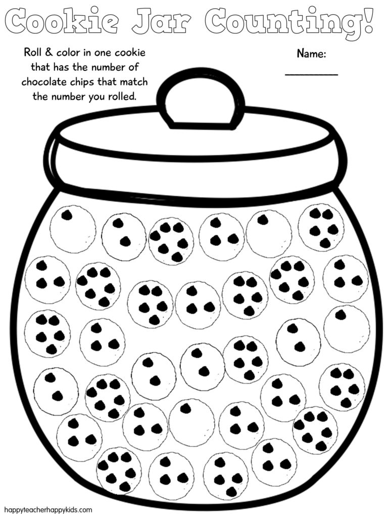 Free Cookie Jar Math for Kindergarten and First Grade