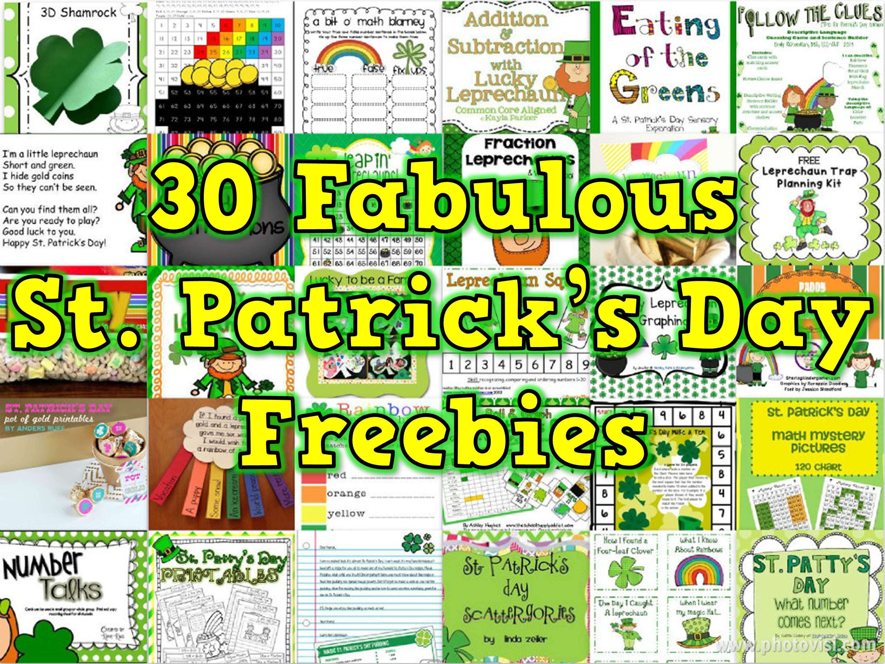 30 Saint Patrick S Day Freebies For K 2 Teachers