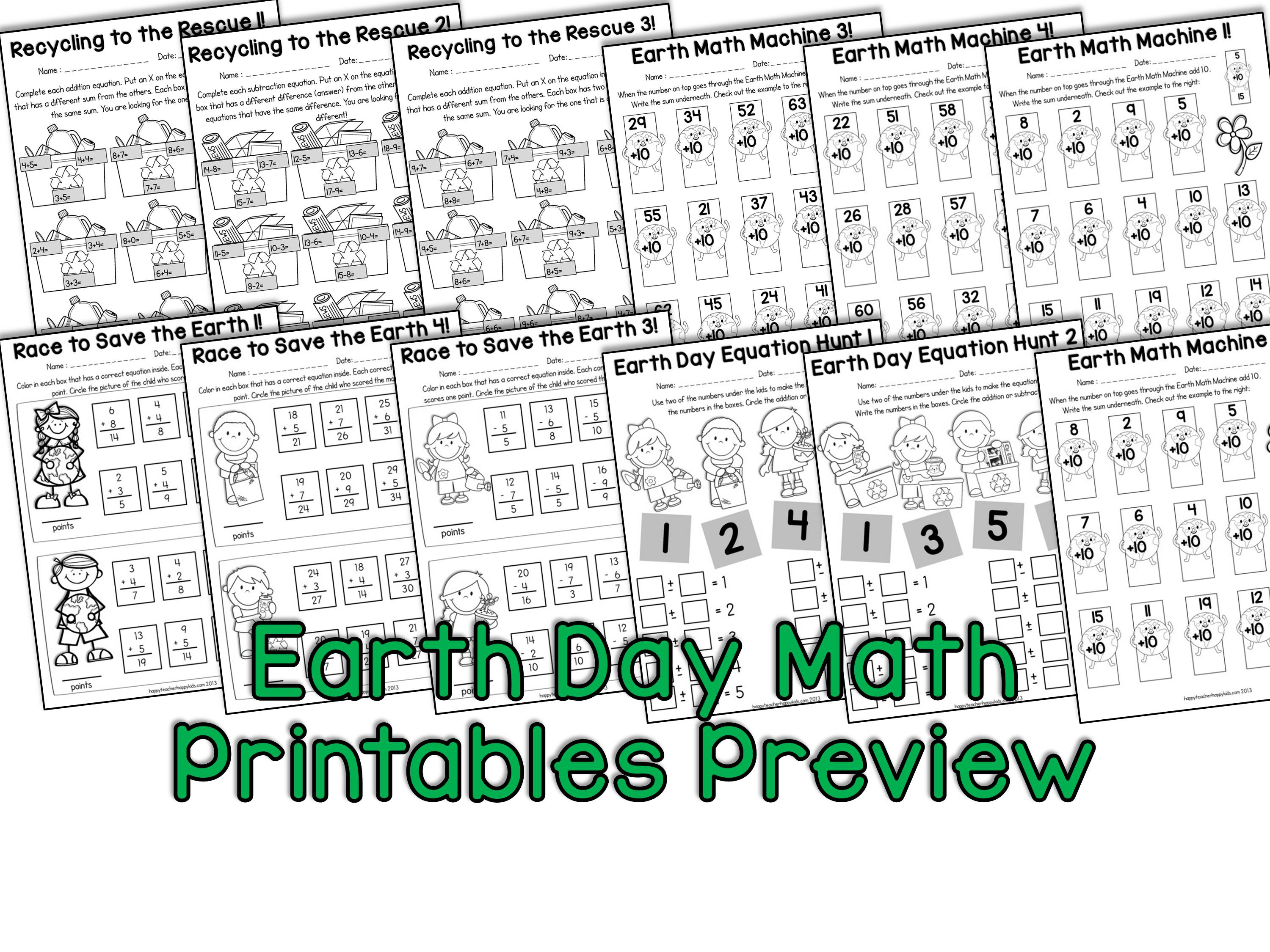 Earth Day Activities For Kindergarten First Grade