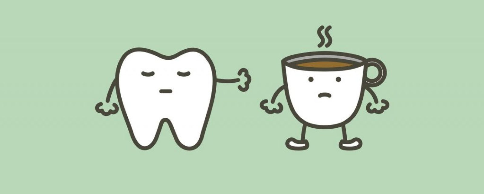 咖啡導致牙齒染色