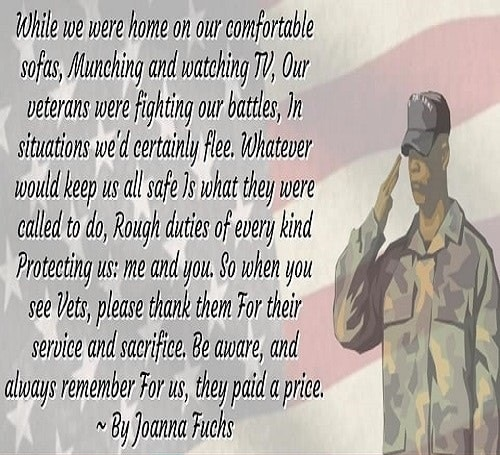 Happy Veterans Day Poems