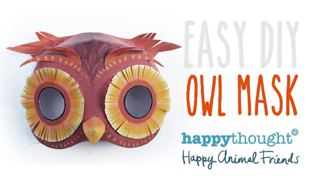 Try Our Easy Homemade Owl Mask Template And Be An Owl In 5