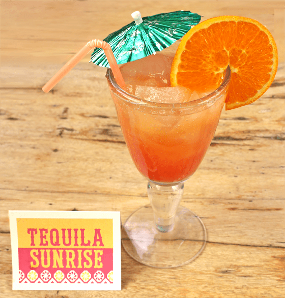 tequila sunrise printable day of the dead cocktails