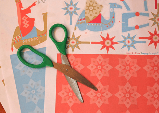 three kings paper craft sheets and a scissors printables