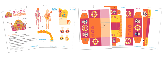 dia de los muertos templates patterns DIY