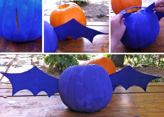 halloween pumpkin bat diy craft and tutorial for halloween