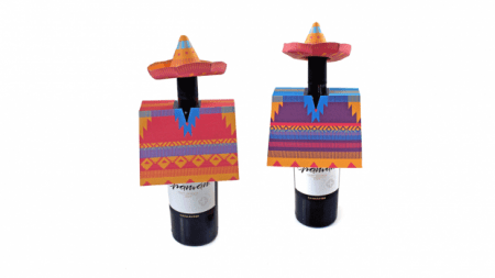 Sombero & Poncho: Decorations for wine bottles!