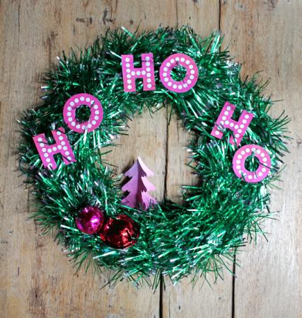 Christmas tutorial templates patterns make tinsel wreath diy easy green