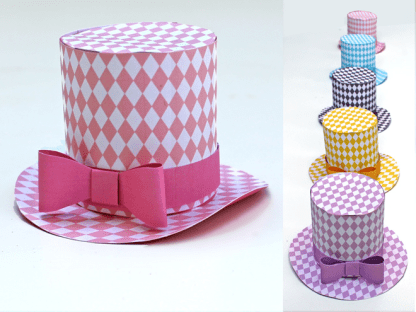 5 Diamond Mini Top Hats