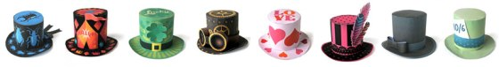 Mini party hat patterns fashion design dress up
