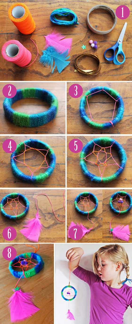 Dreamcatcher craft ideas: Instructions and step-by-step photo tutorial.