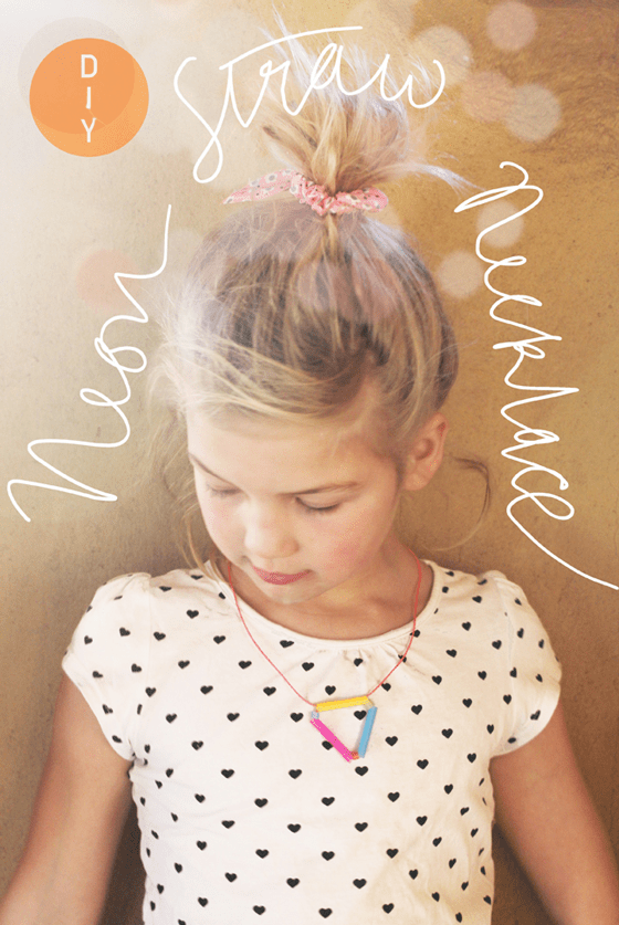 Drinking straw necklace: Necklace diy craft kids activities fun project!