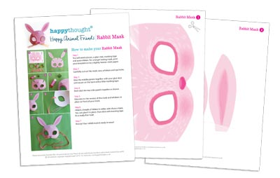 10 Printable Animal Masks templates bunny rabbit