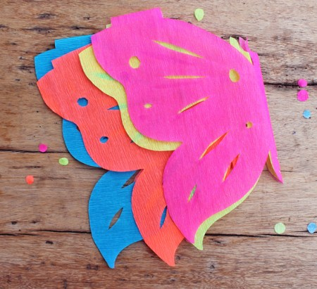 crepe paper craft project butterfly papel picado decorations