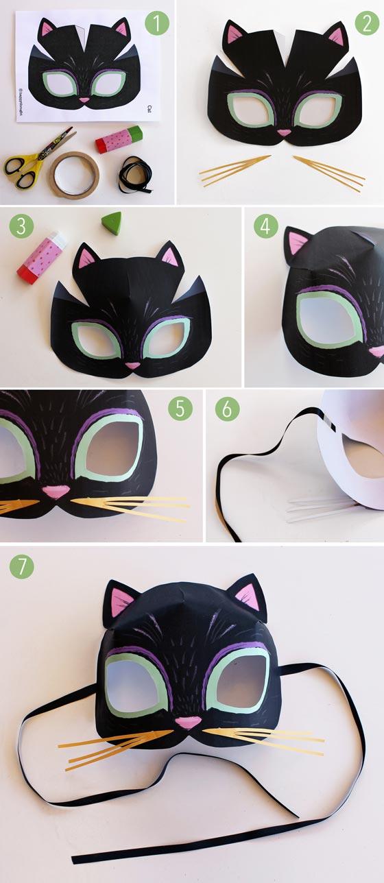 Cat Mask Template : template, Animal, Templates, Print, Play:, Meow!, Template, Tutorial