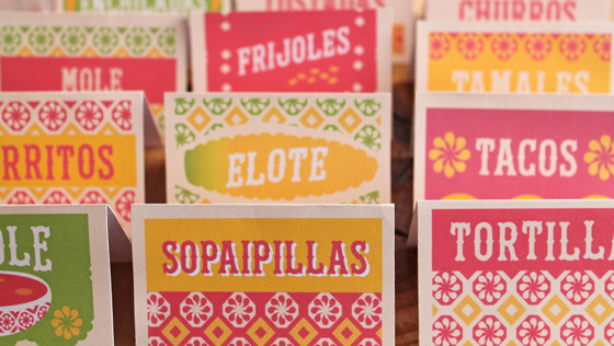 easy to make mexican food signs for a fiesta