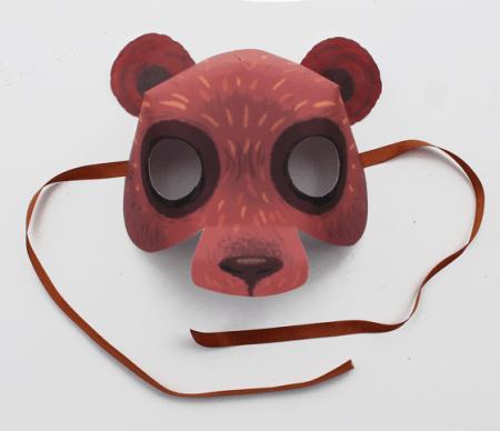 Bear: Animal mask: 10 Printable Animals