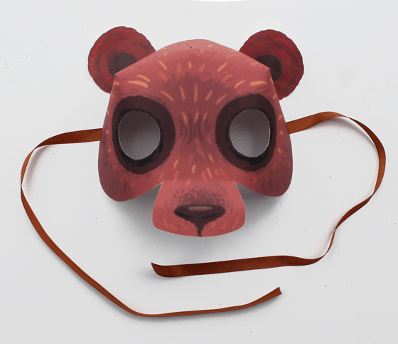 Bear: Animal mask: 10 Printable Animals
