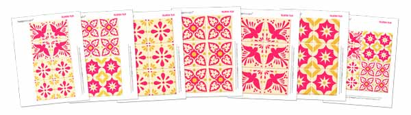 Printable talavera tile templates: Ceramic style ceramica tiles