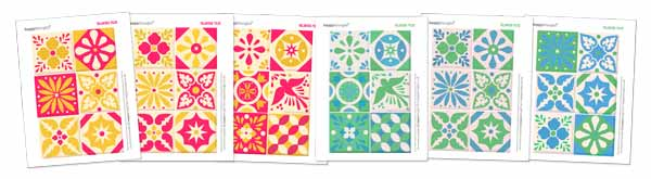 Craft activity - Talavera tiles to print out and decorate you home.
