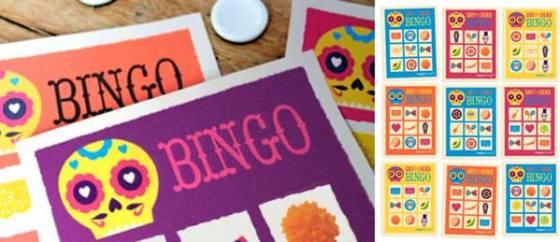 El Dia de los Muertos, Day of the Dead loteria game: Printable games templates!