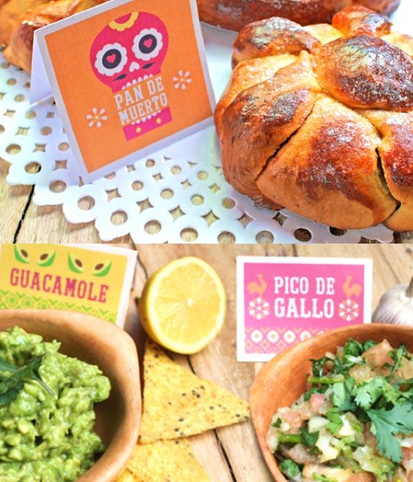 Day of the Dead: Easy Pan de Muertos, Pico de Gallo and Guacamole food ideas!