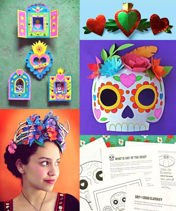 Printable Kids Activities Learn And Play Day Of The Dead Pdf Worksheets