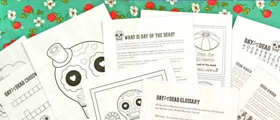 Day of the Dead worksheets. Download over 40 educational + fun worksheets for el Dia de los Muertos!