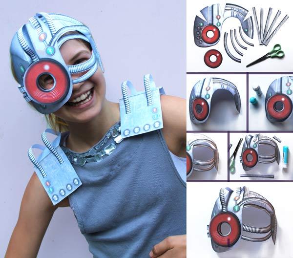 Cyborg printable mask template and costume idea!