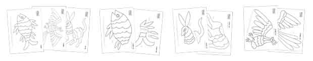 How to make otomi animals: Downloadable DIY craft instructions and black and white colour in templates