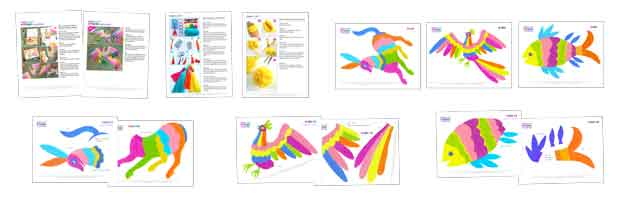 How to make otomi animals: Downloadable PDF DIY craft instructions and colour template
