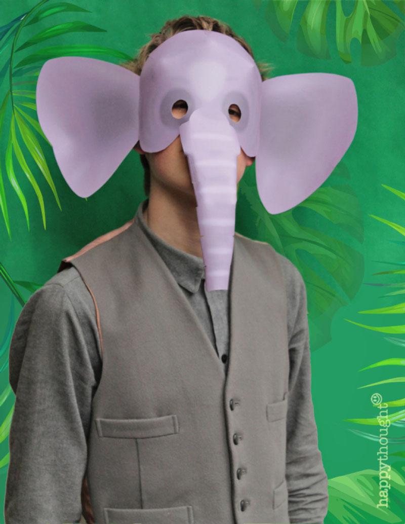 Printable wild animal masks. Download easy to make mask templates now!