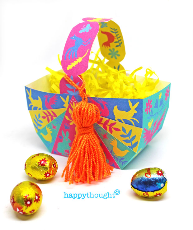 Diy easter baskets create egg baskets with diy instruction and make no sew diy diy easter basket with easy templates with tutorial negle Gallery