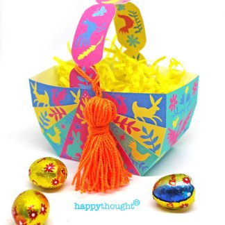 Make no-sew DIY DIY Easter Basket with easy templates with tutorial