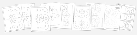 Printable kids activity 9 fun crafts for cinco de mayo for Papel picado template for kids